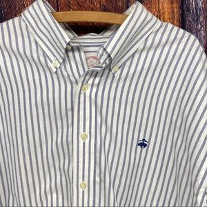 Brooks Brothers logo striped oxford shirt size XL